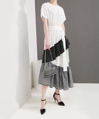 夏桜*ビック Tシャツ ワンピース モダン デザイン ワンピース 大人のモダンスタイル ns190625-003