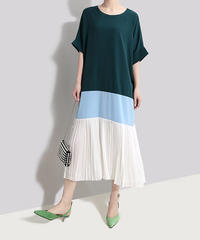 【緊急処分】夏桜*ビック シルエット Tシャツ ワンピース モダン デザイン ワンピース 大人のモダンスタイル ns190625-051