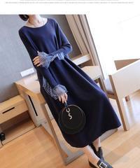 夏桜*セーター スカート ニット ワンピース ns190905-7