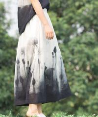 夏桜*高級ラミー100% ロングスカート ホリデーカジュアルスカート ns190703-14