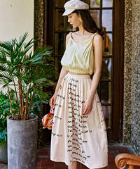 夏桜*新デザインニッチレディースヘップバーンスタイルプリントスカート ns20200504-011