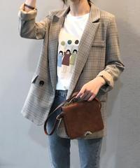 夏桜*カジュアル チェック柄 スーツ ジャケット ns190805-44