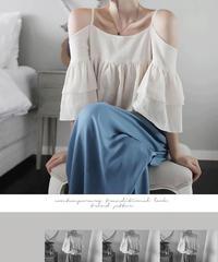 夏桜*リネンホルターシャツとワイドレッグパンツ上下セットアップ ns20200611-001