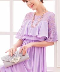夏桜*フォーマルドレス 披露宴 二次会 パーティードレス ns20190708-01紫