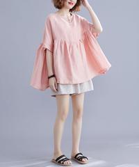 夏桜*ゆるサイズ ビックシルエット 可愛らしい Tシャツ カジュアルシャツ ns190725-02