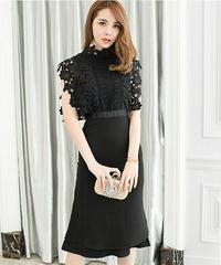 夏桜*刺繍ブラウスフィッシュテールイブニングドレス ns20200504-002