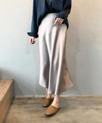 夏桜*光沢 サテン ハイウエスト Aライン スカート ns190805-43