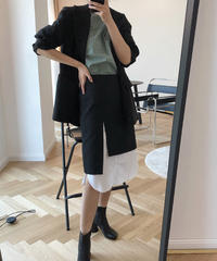 夏桜*黒と白のコントラスト Aライン スカート ns190805-28