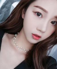 夏桜*真珠のネックレス チェーン パール 鎖骨 ネックジュエリー 20190723-04