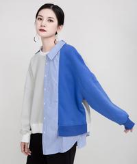 夏桜*不規則なデザインセンス セーター T-シャツ ns191221-003