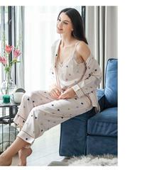 夏桜*可愛らしい柄サテンのパジャマホームウェア ns20200503-008