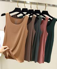 夏桜*モーダル シームレス ベスト ゆったり袖なしTシャツ ns190902-32