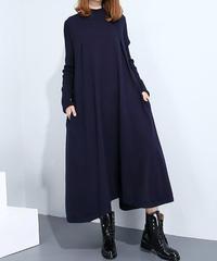 夏桜*ニットドレス 冬の長いゆったりセータースカート ns1901013-005