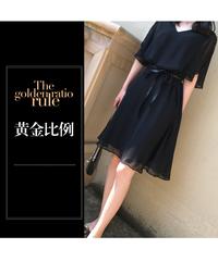 【緊急処分】夏桜*フリルスリーブ Aラインスカート ワンピース フォーマル シフォン ワンピース ns553855
