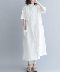 夏桜*ゆったり ワイシャツ ワンピース コットン スパンデックス ホリデーカジュアルワンピース ns190701-34