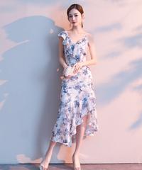 夏桜*セクシーなスリングビーチドレス花柄ノースリーブ ns20200726-010