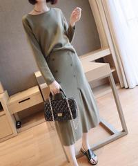 夏桜*セーター スカート ニット ワンピース ns190902-12