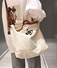 夏桜*キャンバス ショルダー ビック サイズ バッグ カジュアル バッグ ns20190716-33