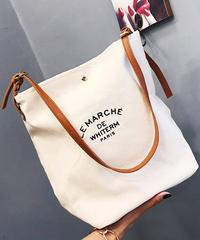 夏桜*キャンバス ショルダー バッグ ミディアムサイズ パウチ付き カジュアル バッグ ns20190716-19