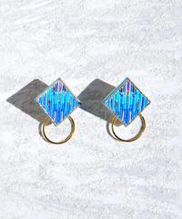 RITUAL | Square Hoop I earring | turquoise