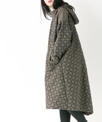刺繍コート (KHAKI , BLACK)