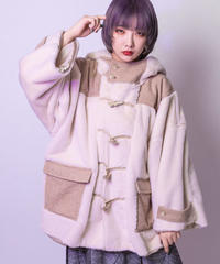 【SALE】Duffle fur coat (WHITE , PINK , NAVY)
