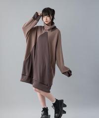 【20-21AW 受注予約商品】デルタワンピ ( BROWN , BLACK )