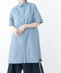 Shirt One-Piece Dress (BLUEGRAY , BLACK)