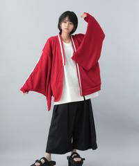 【21SS 受注予約商品】振袖ジャージ  ( red , black )