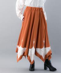 【20SS  受注予約商品】つるスカート ( 柿色×WHITE , BLACK×GOLD , BLACK×BLACK )