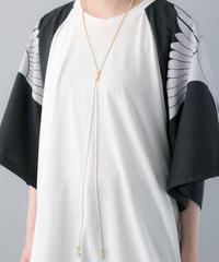 【20SS  受注予約商品】ロングジッパーネックレス (WHITE×GOLD , BLACK×GOLD , BLACK×BLACK )