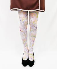 【復刻】RETRON LOULOU 8T-0038【レインボーポニー-ピンク】タイツ