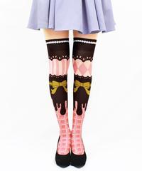 【復刻】MerryGORound OV-0160【チョコレート(イチゴ)】オーバーニー