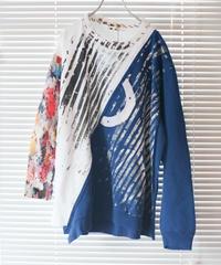 """""""色彩に変わる途中の青"""" Blue on its way to becoming a color, rebuild by vintages"""