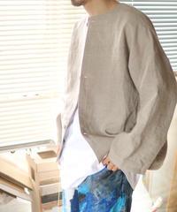 《0<nisai+α≦Y》 three button shirt jacket / Russian linen