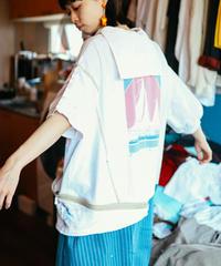 """""""夏、色隠し、セーラーワンピース"""" Summer love Sailor collar Dress, Rebuild by vintages"""