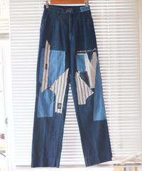 """""""青い少女とカンディンスキー"""" the blue girl and Kandinsky denim, based vintage LEE"""