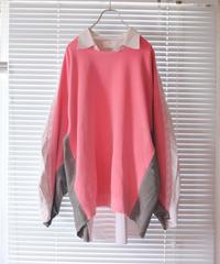 """""""桃色の両思い"""" pink color mutual affection pull-over, rebuild by vintages"""