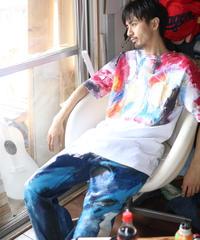"""""""六月の色彩交遊 第六色"""" Hand painted color T-shirts"""