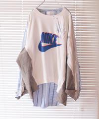 """""""ブルーフィルムの残像"""" Afterimage of blue film sweatshirt, Rebuild by Vintages(nike)"""