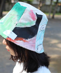 """【nisai × daisuke kondo】""""遊びと色の果て"""" After Painting Play Hat / 002"""