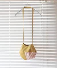 "《0<nisai+α≦Y》色彩手刷りの""円""ポシェット / Yellow + Pink"