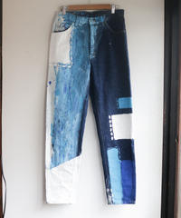 """ネオンと天泣"" NEON and Sky tears denim, Based on vintage LEE denim"