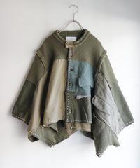 """ふたりきり"" Too Wide Short jacket, reconstructed from Green vintages"