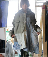 """荒くれ者の約束"" Promise of the rough man coat jacket, reconstructed from mix vintages"