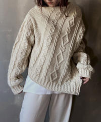 【RE;CIRCLE】Diagonal Cable Knit / 201112-019