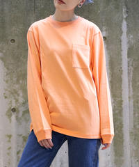 [Goodwear] Long sleeve T-shirt (Light Orange)
