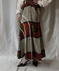 【USED】 African Batik Skirt②/210428-009