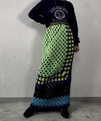 【RE;CIRCLE】 Granny Knit Long Skirt ① /210125-008