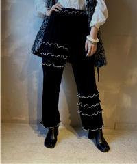 【RE;CIRCLE】Mellow Velor Lace Pants 2  / 201103-015